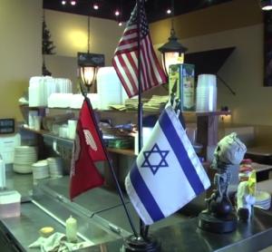 Baransi's Israeli flag [TheColumbusDispatch / YouTube]