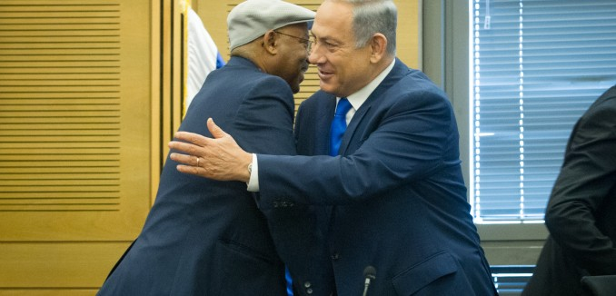 Israeli Prime Minister Benjamin Netanyahu attends a conference on Israeli-African relations, organized by Likud parliament member Avraham Negusie, at the Israeli parliament on February 29, 2016. Photo by Miriam Alster/FLASH90 *** Local Caption *** ??? ?????? ?????? ?????? ???? ????  ????? ?????? ?????