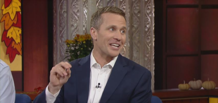 Eric Greitens appears on The Late Show with Stephen Colbert, November 26, 2015. Photo: The Late Show with Stephen Colbert / YouTube