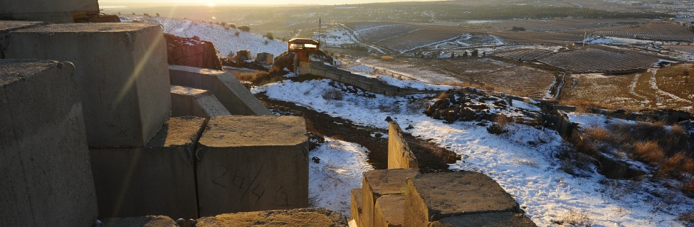 An Israeli outpost on the Golan Heights, overlooking the Syrian border. Photo: Mendy Hechtman / Flash90