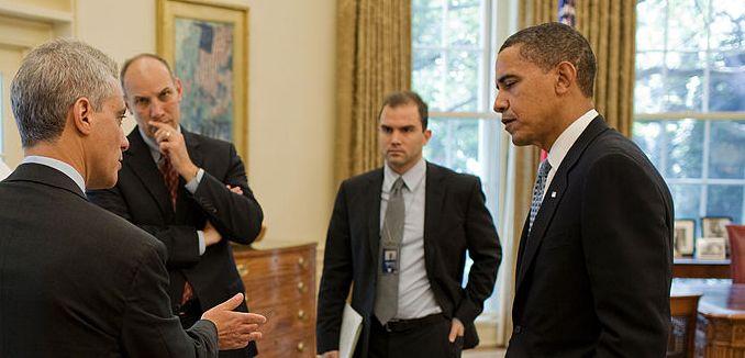 FeaturedImage_2016-05-08_WikiCommons_President_Obama,_Rahm_Emanuel,_Robert_Gibbs,_Phil_Schiliro_and_Ben_Rhodes,_Oct_2009