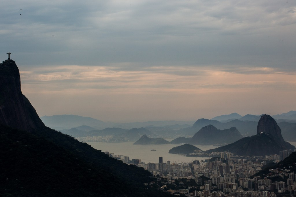 "View of Rio de Janeiro. Sugarloaf Mountain is on the right, and the ""Christ the Redeemer"" statue is on the left. Photo: Nati Shohat / Flash90"