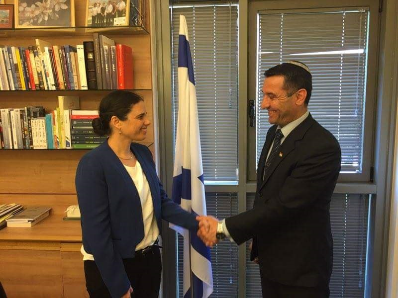 Sherzad Mamsani meets with Israeli Justice Minister Ayelet Shaked. Photo courtesy of Sherzad Mamsani