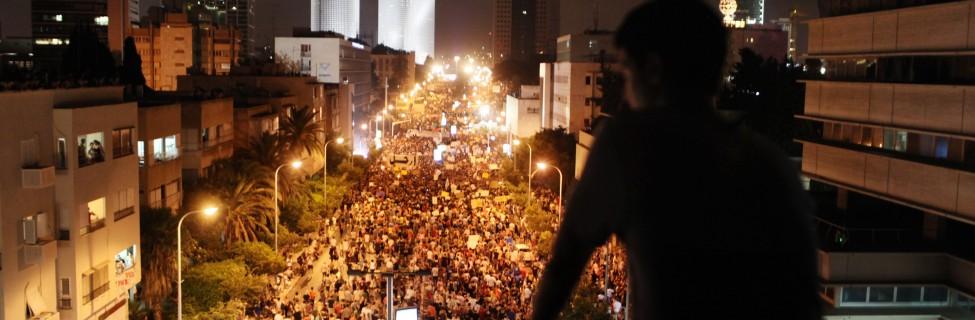 Around 200,000 Israelis march in Tel Aviv, August 7, 2011. Photo: Matanya Tausig / Flash90