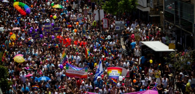 About 200 thousand people participate at the annual Gay Pride Parade in Tel Aviv, on June 3, 2016. Friday's Parade marks the end of Pride Week in Tel Aviv, internationally acclaimed as one of the most proud and gay-friendly cities in the world. Photo by Miriam Alster/FLASH90  *** Local Caption *** ???? ?????? ?? ????