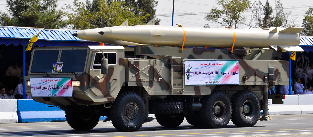 Fateh-110 missiles on parade in Tehran. Photo: Aspahbod / Wikimedia