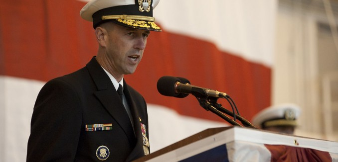US_Navy_111029-N-NY820-042_Vice_Adm._John_Richardson,_Commander,_Submarine_Forces,_delivers_remarks_during_the_commissioning_of_the_Virginia-class