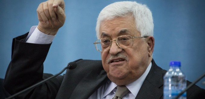 Palestinian Authority President Mahmoud Abbas speaks during a meeting with a delegation of the Federation of Jews from Arab countries, at the Muqaata in Ramallah, West Bank, on March 28, 2016. The delegation met with Abbas in order to promote dialogue, good relations, and peace between Israel and the Palestinians. Photo by Hadas Parush/Flash90 *** Local Caption *** ?????? ????? ?????  ??????? ????? ?????? ????? ?????? ??? ???? ?????? ????? ???? ?????? ????? ????????? ????? ??? ???? ????? ???? ?????? ???? ??????