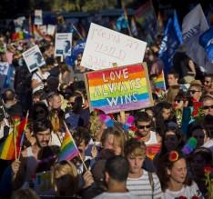 LGBT, gay pride parade, Yonatan Sindel/Flash90