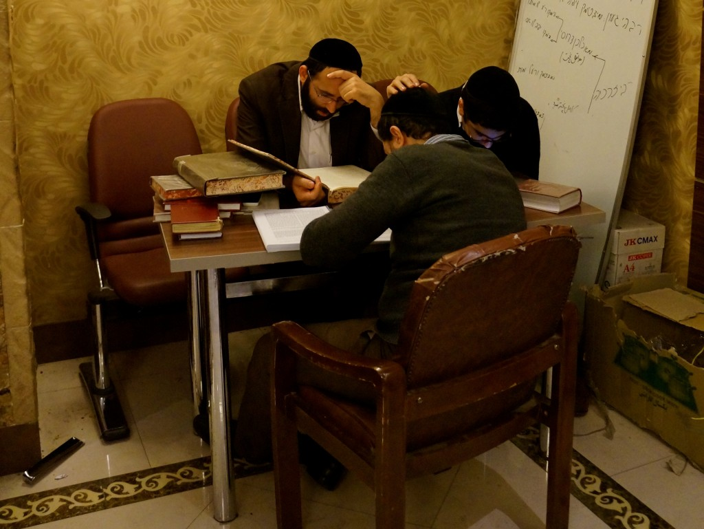 Jews study holy texts in Tehran. Photo: Annika Hernroth-Rothstein