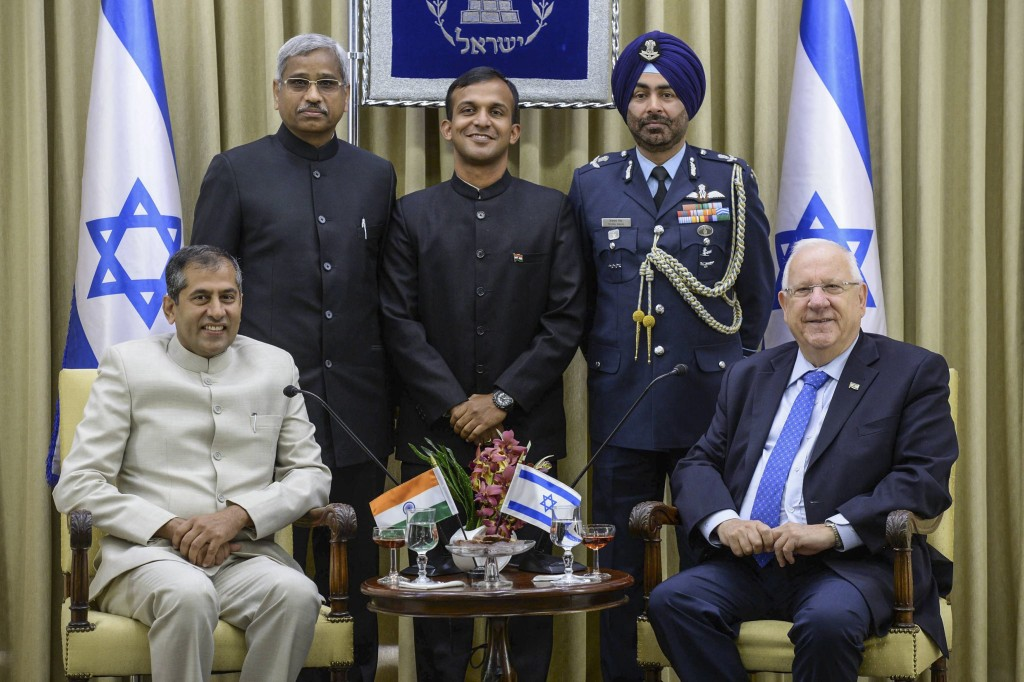 Israeli President Reuven Rivlin meets with incoming Indian ambassador to Israel Pavan Kapoor at the President's residence in Jerusalem, August 3, 2016. Photo: Mark Neyman / GPO / Flash90