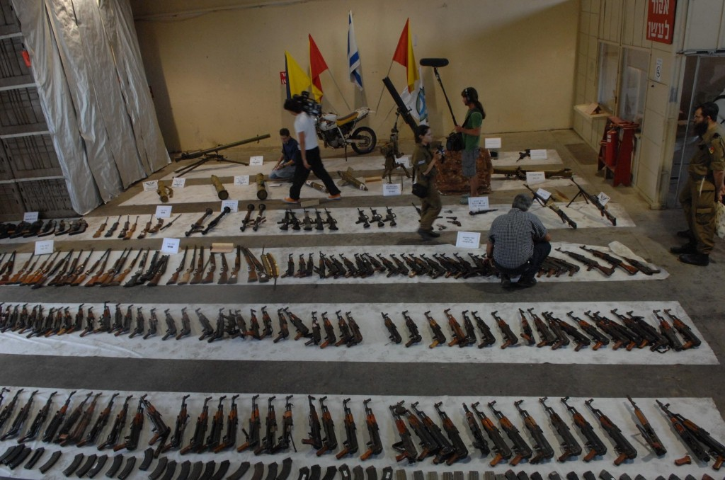 Weaponry captured from Hezbollah during the Second Lebanon War. Photo: Israel Defense Forces