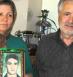 Hashem Zeilani and Akram Neghabi, parents of Saeed Zeilani