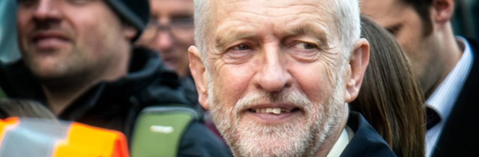 Jeremy Corbyn appears at a rally, April 2016. Photo: Garry Knight / flickr
