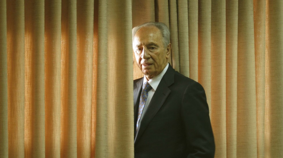 Shimon Peres attends a meeting of the Kadima party at the Knesset just after being nominated for president,  June 11, 2007. Photo: Yossi Zamir / Flash90