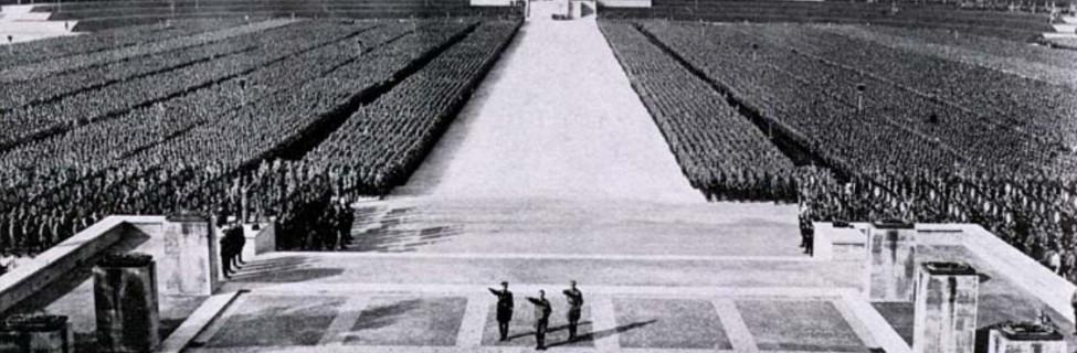 A Nazi Party rally in Nuremberg, 1934. Photo: Wikimedia
