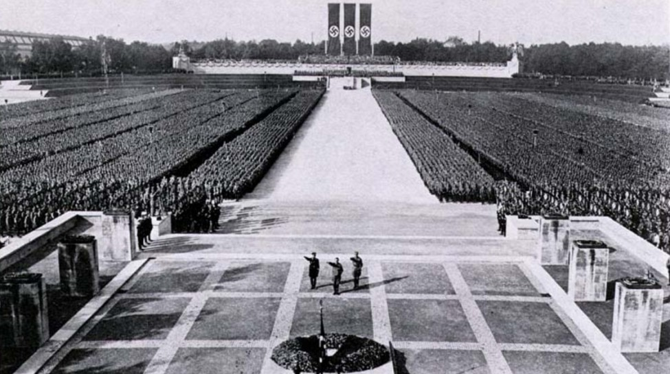 A Nazi Party rally in Nuremberg, 1934. Photo: Wikimedia