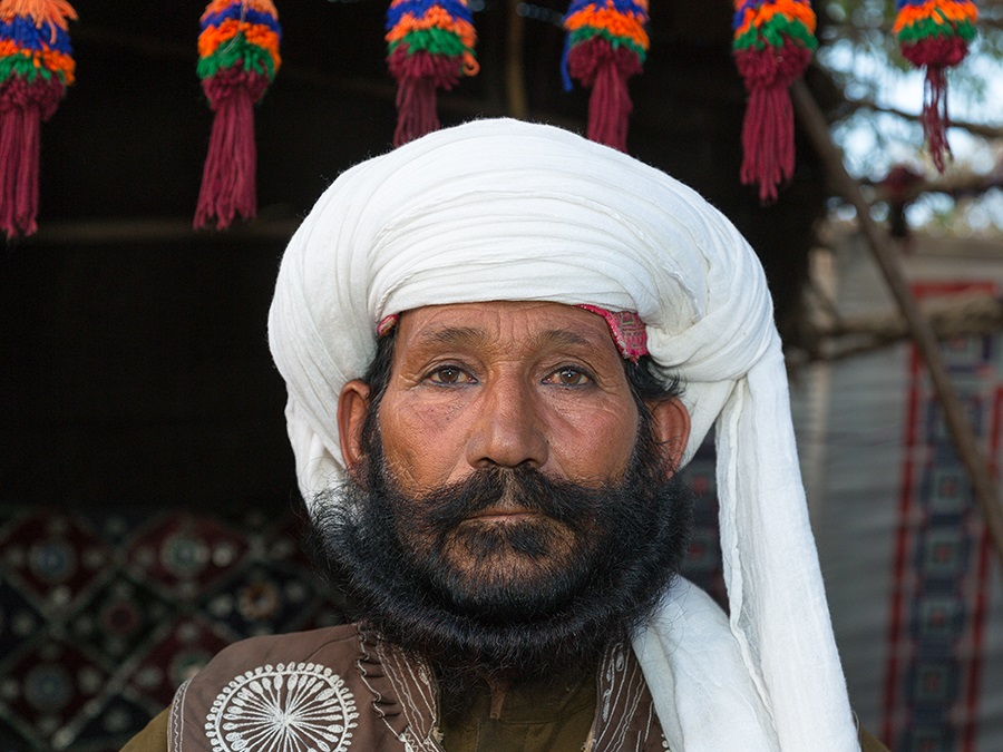 A Baloch tribesman in traditional headgear. Photo: Ahmed Sajjad Zaidi / flickr