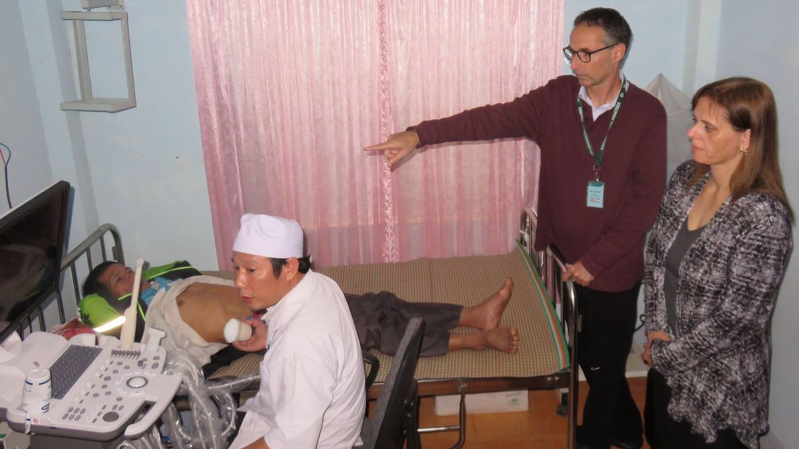 Dr. Rafi Kot and Israeli Ambassador Meirav Eilon Shahar at the Vietnamese hospital where Kot donated a new ultrasound machine. Photo courtesy of Israeli Embassy in Vietnam