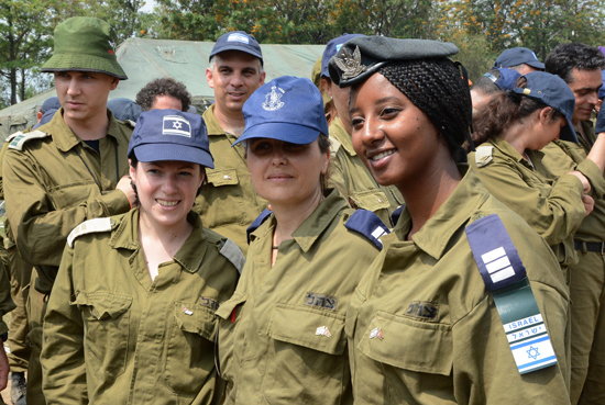 Members of the IDF Medical Corps at the closing ceremony of the IDF field hospital in Nepal. Photo: Bikas Rauniar / Nepali Times