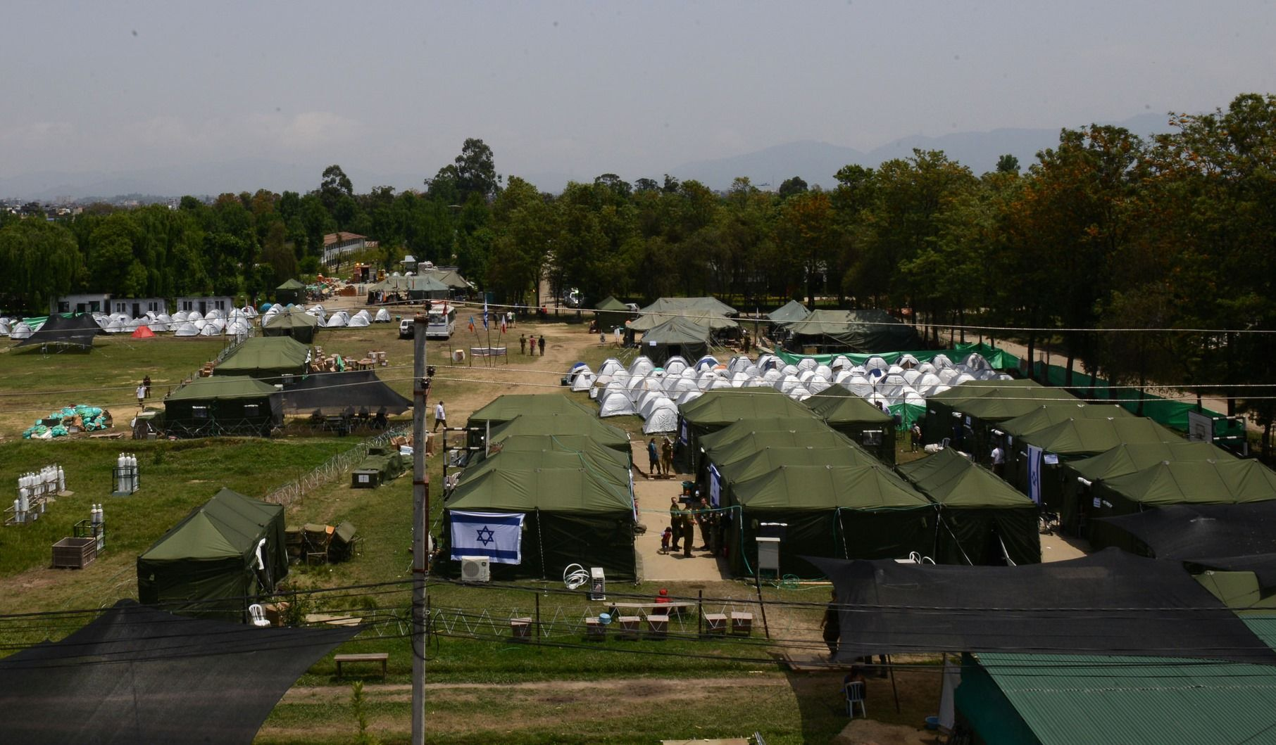 Overview of the IDF emergency field hospital in Nepal. Photo: IDF
