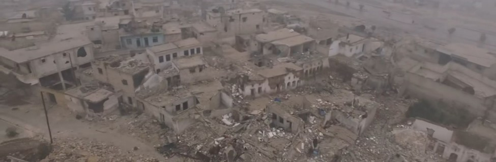 Drone footage of eastern Aleppo, December 2016. Photo: RT / YouTube