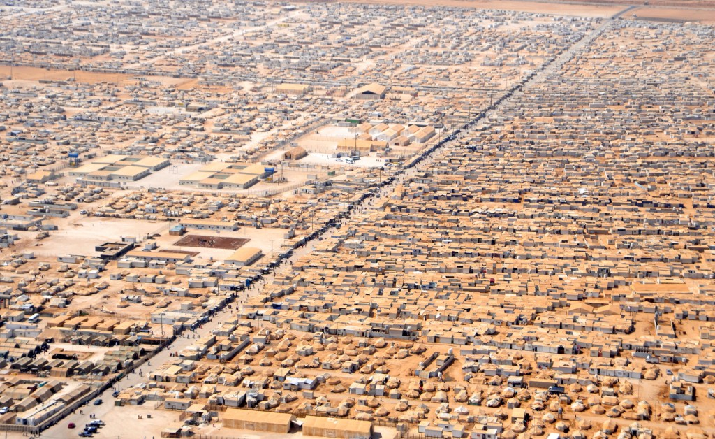 Aerial view of the Za'atari refugee camp in Jordan. Photo: U.S. Department of State / Wikimedia