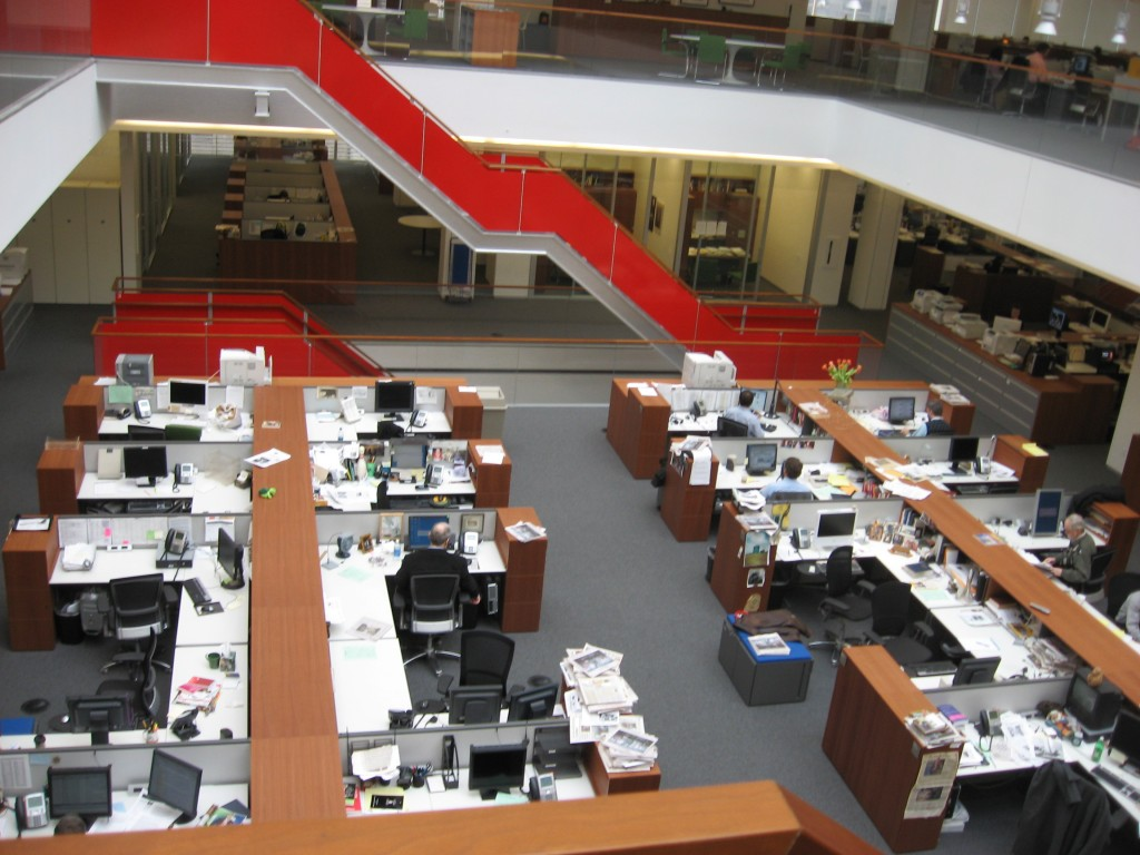 The New York Times newsroom. Photo: Bpaulh / Wikimedia
