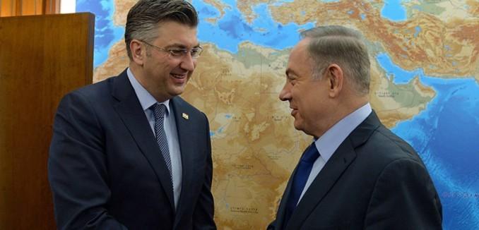 PM Netanyahu with Croatian PM Andrej Plenkovic in Jerusalem