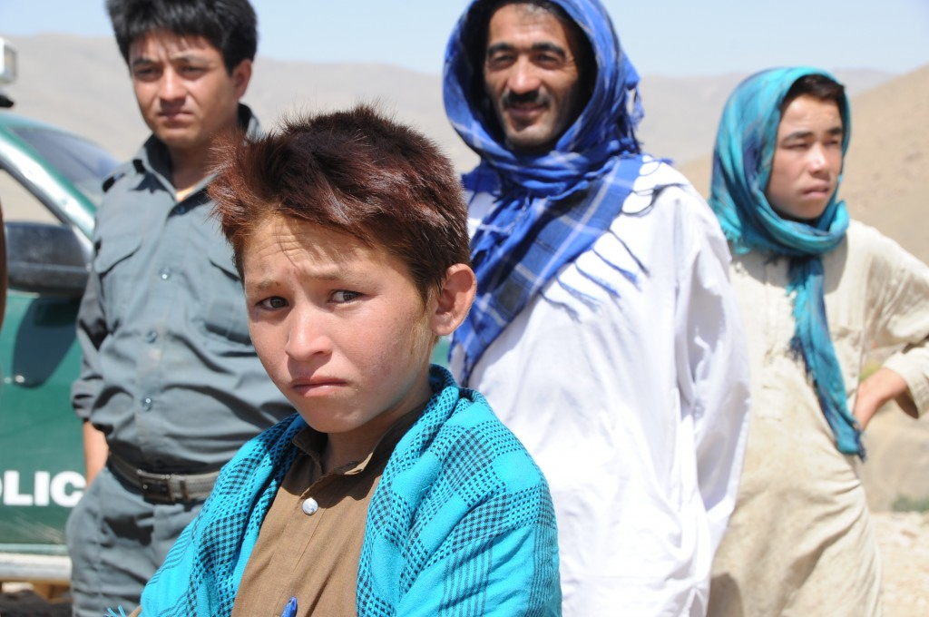 A Hazara family, Daykundi, Afghanistan. Photo: Karla K. Marshall / U.S. Army Corps of Engineers