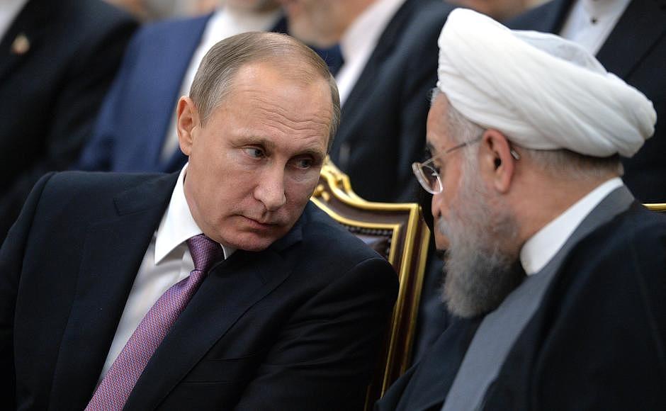 Russian President Vladimir Putin and Iranian President Hassan Rouhani meet in Tehran, November 2015. Photo: Kremlin.ru
