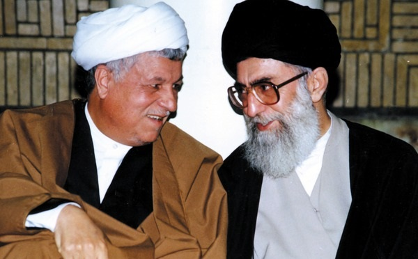 President Akbar Hashemi Rafsanjani (left) and Supreme Leader Ayatollah Ali Khamenei, 1989. Photo: Khamenei.ir