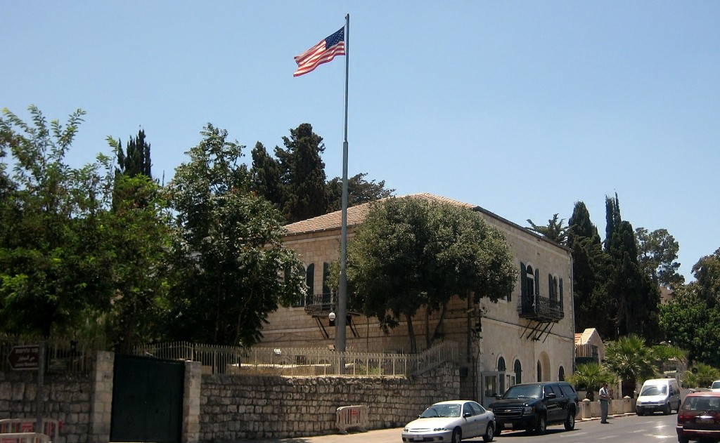 The U.S. Consulate in Jerusalem represents American interests in Jerusalem, the West Bank, and Gaza Strip. Photo: Magister / Wikimedia