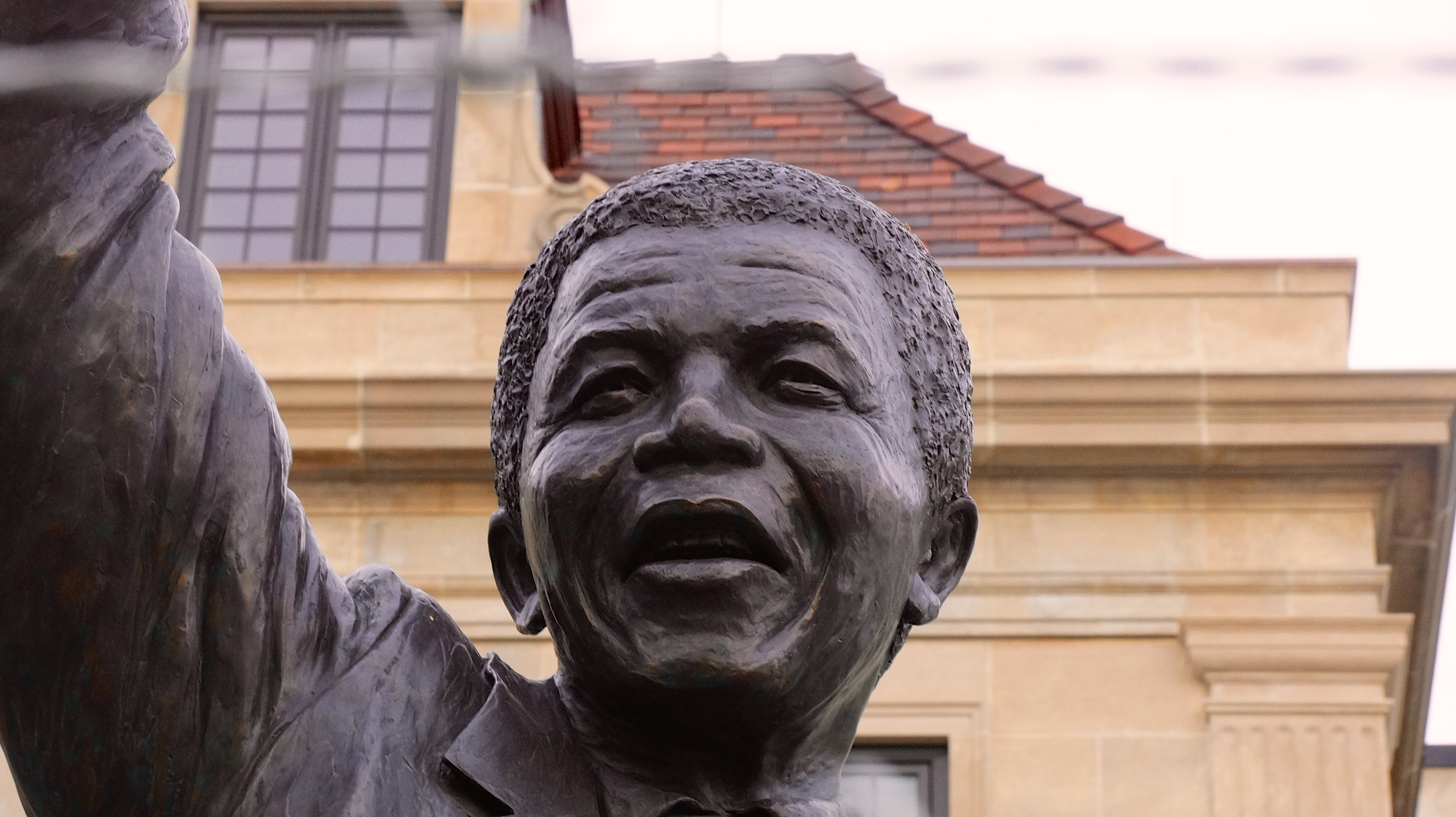 A statue of Nelson Mandela in front of the South African Embassy in Washington, DC. Photo: Ted Eytan / flickr