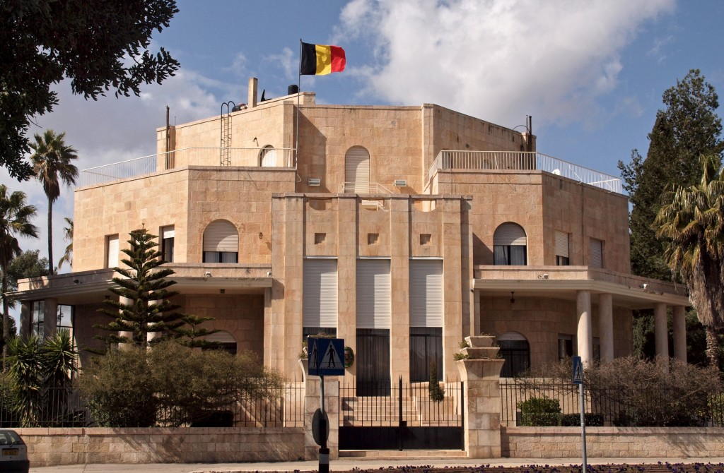 The Belgian consulate in Jerusalem. Photo: Sandra Cohen-Rose and Colin Rose / Wikimedia