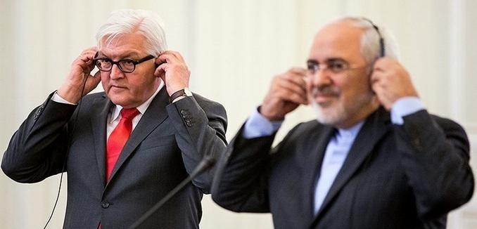 Steinmeier with Iran's FM Zarif