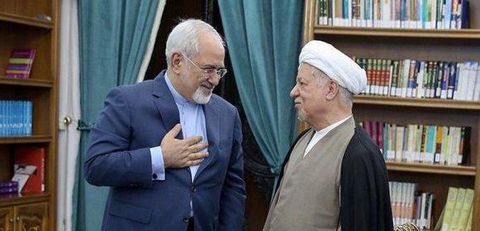Iranian (ex-)FM Zarif with former Pres. Rafsanjani