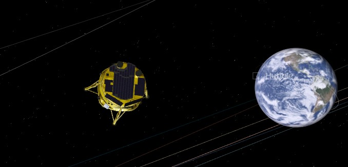 Beresheet on its way to the moon