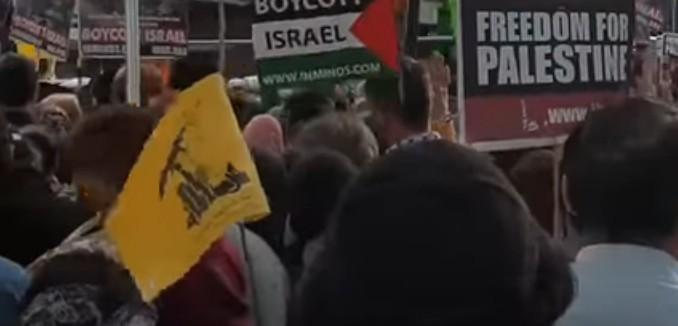 Hezbollah flag in London