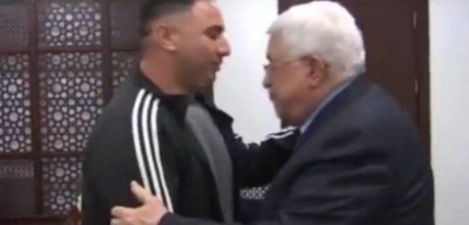 Abbas Greets Man Convicted of Terror