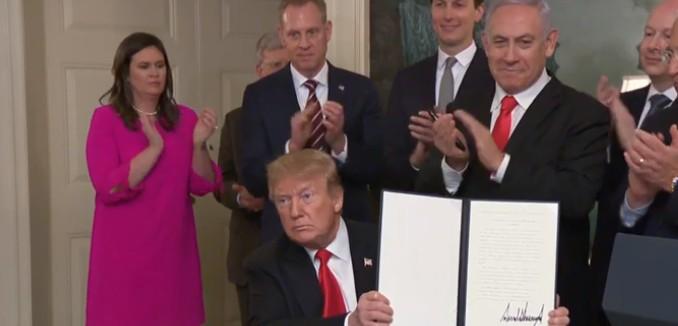 Trump Recognizes Israeli Sovereignty over Golan